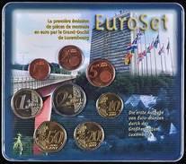 42508) Luxemburg Euro - KMS 2002, Von 1 Cent Bis 2 Euro, Im Blister, St. - Luxemburg