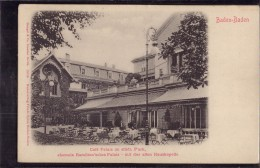 Baden Baden - S/w Café Palais Im Städtischen Park Mit Der Alten Hauskapelle - Baden-Baden