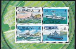Gibraltar, 1993, 658/51 Block 18, Kriegsschiffe Im Zweiten Weltkrieg. (I)MNH **, - Gibraltar