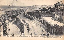 64-BIARRITZ- AVENUE EDOUARD VII ET TRAMWAY DE BAYONNE , EDWARD VII AVENUE AND THE TRAM OF BAYONNE - Biarritz