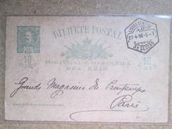 ENTIER POSTAL   INDE . 1498 /1898 - Postales
