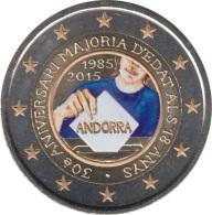 Andorra 2015 2 Euros Conmemorativos  30º Av De La Mayoría De Edad - Coins
