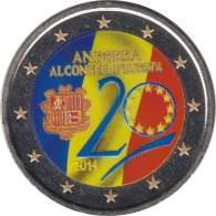 Andorra 2014 2 ? Euros Conmemorativos  Consejo De Europa Color - Coins