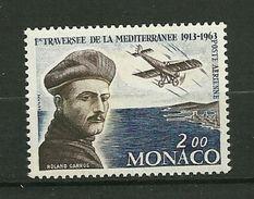 """MONACO. Poste Aérienne  1963   N°  81    """" Cinquentenaire De La Traversée De La Méditerranée Par Roland Garros """"   NEUF - Poste Aérienne"""
