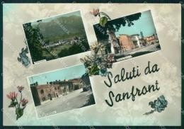 Cuneo Sanfront Saluti Da Foto FG Cartolina MZ1621 - Cuneo