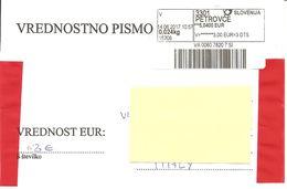 SLOVENIA - 2017 Busta Speciale Per L'invio Di Valori Con Etichetta Postale Con Codice - Slovénie