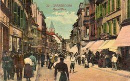 CPA - SARREBOURG (57) - Aspect De La Grand'Rue En 1929 - Sarrebourg