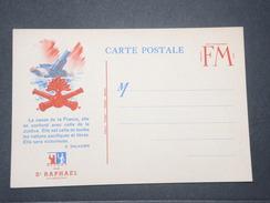 FRANCE - Carte FM Patriotique , Texte De Daladier , Offert Par St Raphaël - L 9442 - Cartes De Franchise Militaire