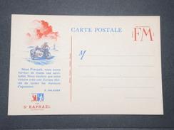 FRANCE - Carte FM Patriotique , Texte De Daladier , Offert Par St Raphaël - L 9443 - Cartes De Franchise Militaire