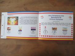 Feuillet CEF BARCELONE 92 - Documents De La Poste