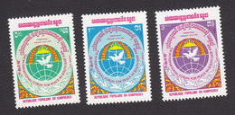 Cambodia, Scott #477-479, Mint Hinged, Int'l Peace In SE Asia Forum, Issued 1984 - Cambodge