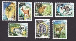 Cambodia, Scott #533-539, Mint Hinged, Wild Animals, Issued 1984 - Cambodge