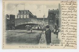 U.S.A. - MASSACHUSETTS - SPRINGFIELD - Rail Road Arch Over Main Street - Springfield