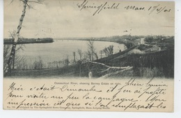 U.S.A. - MASSACHUSETTS - SPRINGFIELD - Connecticut River Showing Barney Estate On Right - Springfield