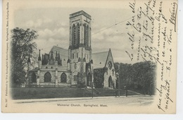 U.S.A. - MASSACHUSETTS - SPRINGFIELD - Memorial Church - Springfield