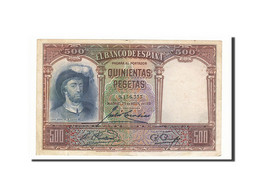 Espagne, 500 Pesetas, 1931, KM:84, 1931-04-25, TTB - [ 2] 1931-1936 : Repubblica