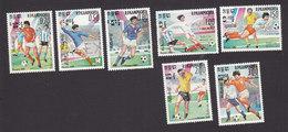 Cambodia, Scott #552-558, Mint Hinged, Soccer, Issued 1985 - Cambodia