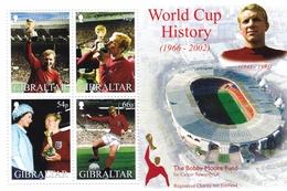 Gibraltar, 2002, 1006/09 Block 50, Fußball-Weltmeisterschaft, Japan Und Südkorea. MNH **, - Gibraltar