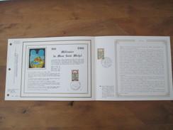 Feuillet CEF N° 636   -   Feuillet Grand Luxe  -  MONT SAINT MICHEL  ( Soie ) - Documents De La Poste
