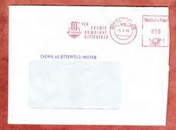 Brief, Absenderfreistempel, VEB Chemie Kombinat, 50 Pfg, Bitterfeld 1990 (39220) - DDR