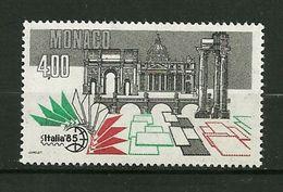 "MONACO  1985   N° 1491   "" Italia 85 ( Expo.philatélique Mondiale à Rome ) ""    NEUF - Monaco"