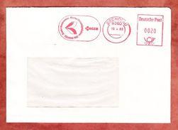 Brief, Absenderfreistempel, MZ Maschinenbau Motorradproduktion, 20 Pfg, Zschopau 1983 (39224) - DDR