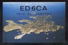 Tarjeta Postal *Radioaficionado* *ED-6-CA. Isla De Cabrera, Baleares..* Ver Dorso. - Radio Amateur