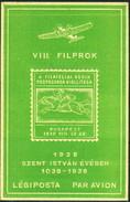 1937. 7th Filprok Airmail  :) - Feuillets Souvenir