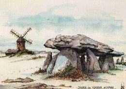 CPM   St Lyphar Dolmen Par Robert Lépine - Saint-Lyphard