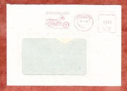 Brief, Absenderfreistempel, MZ-Stadt, Motorrad, 20 Pfg, Zschopau 1985 (39225) - [6] República Democrática