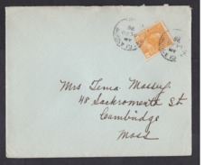 Canada: Cover To USA, 1926, 1 Stamp, King George V (minor Damage, See Scan) - 1911-1935 George V