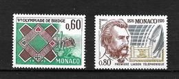 MONACO  1976   N° 1052 / 1053      NEUFS - Monaco