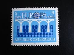 """Autriche - Europa 1984 """"Pont De Coopération"""" - Y.T. 1601 - Neuf (**) Mint (MNH) - Europa-CEPT"""