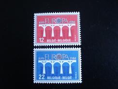 """Belgique - Europa 1984 """"Pont De Coopération"""" - Y.T. 2130/2131 - Neuf (**) Mint (MNH) - Europa-CEPT"""