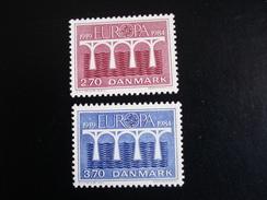 "Danemark - Europa 1984 ""Pont De Coopération"" - Y.T. 809/810 - Neuf (**) Mint (MNH) - Europa-CEPT"