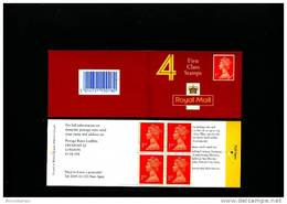 GREAT BRITAIN - 4 X 1st Class  (Walsall)  ELLIPTICAL  EEC TEXT BOOKLET MINT NH  HB 6a - Booklets