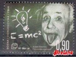 Bosnia Croatian Post - Albert Einstein 2016 Used - Bosnia And Herzegovina