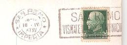 Jeu / Casino; Flamme De San Remo, Italia : VISITATE IL CASINO MUNICIPAL Sur Carte 1937 , TB - Giochi