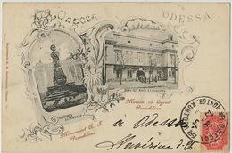Odessa  P. Used 1901 To Hesdin  Edit Lewinsohn Pouschkine - Ukraine