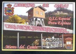 Tarjeta *Radioaficionado* *QSL Especial Pozu Espinos...* Meds: 100 X 150 Mms. Ver Dorso. - Radio Amateur