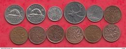 Canada 12 Pièces Dans L 'état (5 Cents 1899 Forte Cote En SUP) (4 Lots 49 Pièces AUCUN DOUBLE) Lot N °1 - Canada