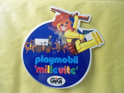 PLAYMOBIL MILLEVITE - GIG -  STICKER  ADESIVO  PUBBLICITARIO AUTOCOLLANT - Autocollants