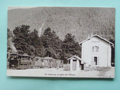 V07-74-D1-74-haute Savoie-thones-le Tramway-en Gare De Thônes -ligne Annecy Thones-1898-1930-reproduction-- - Thônes