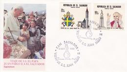 El Salvador. 1983. Besuch Von S.S. Giovanni Paolo II In San Salvador Mi: 1453 + 1454 - Papes