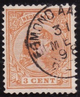 Egmond Aan Zee (PK) Op Nr 34  (schaars Op Dit Zegel) Cw Kleinrond Stempel € 10,00 - Period 1891-1948 (Wilhelmina)