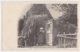 26251 BRASPARTS  (29) La Hutte De Maharit Coz, Penhoat-en-Brasparts -Ed Joncour N° 345 - Fileuse - Non Classés