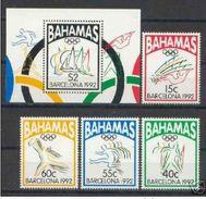 BAHAMAS 1992 - OLYMPICS BARCELONA 92 - YVERT Nº 773-776 + BLOCK Nº 65 - MICHEL 783-786  BLOCK 67 - SCOTT 755-758  SS 759 - Verano 1992: Barcelona