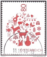 Austria Österreich 2016  Weihnachten (I) Christbaumkugel   USED / O / GESTEMPELT - 2011-... Afgestempeld