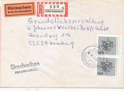 GADEBUSCH - 1996 , Heinrich Der Löwe , R-Brief Mit Rückschein Nach Hamburg - Storia Postale