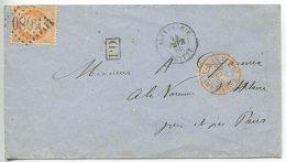N°23 + GC 5080 / Lettre De Alexandrie (Egypte) Pour La Varenne St Hilaire Par Paris Et St Maur Les Fossés (val De Marne) - 1862 Napoleon III